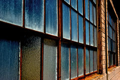 Rows of Opaque Glass Window Panes Stock Image