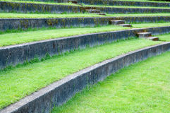 Rows of oudoor amphitheater Royalty Free Stock Photos