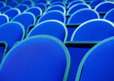 Rows of overstuffed chairs Royalty Free Stock Images