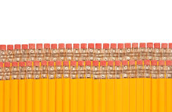 Rows of pencils Stock Photo