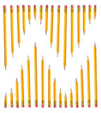 Rows of Pencils Royalty Free Stock Photos