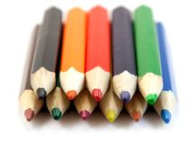 Rows of pencils Royalty Free Stock Image
