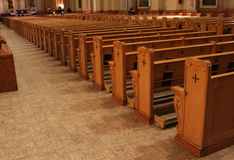 Rows of Pews Royalty Free Stock Images
