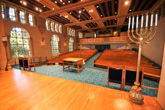 Rows of pews in a synagogue Royalty Free Stock Photography