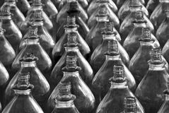 Rows of Plastic Bottles Royalty Free Stock Images
