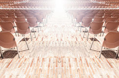 Rows of plastic chairs. Stock Photography
