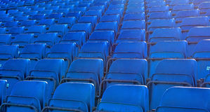 Rows of plastic seats Royalty Free Stock Photo