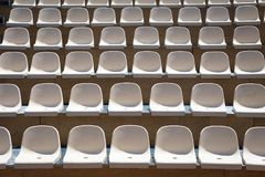 Rows of plastic seats Stock Image