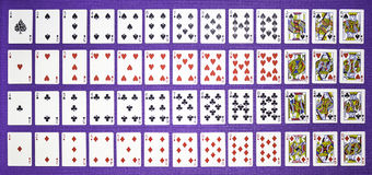 Rows of playing cards Stock Image