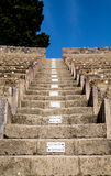 Rows in Pompeii Seating Royalty Free Stock Photos