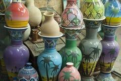 Rows of pottery, Nizwa, Oman Royalty Free Stock Photography