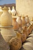 Rows of pottery, Nizwa, Oman Stock Images