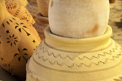 Rows of pottery, Nizwa, Oman Stock Photography