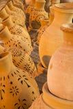 Rows of pottery, Nizwa, Oman Stock Photos