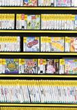 Rows of Preowned of Video Games in a Game Store Stock Photography