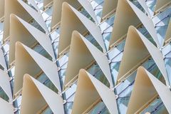 Protruding angles texture. Rows of protruding triangles forming an interesting pattern Stock Photo