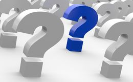 Rows of question marks Royalty Free Stock Photography