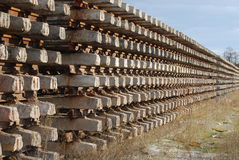 Rows of rails and cross-ties Stock Image
