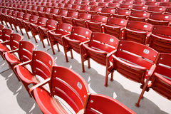 Rows of red audience seats Stock Image