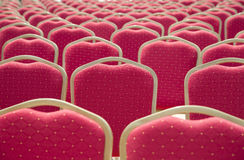 Rows of red chairs Stock Photography