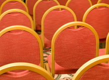Rows of red Chairs in the conference hall Stock Image