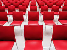 Rows of red chairs. Stock Photography