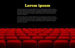 Rows of red cinema or theater seats Stock Images