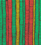 Rows of red and green hand drawn folds Royalty Free Stock Photos
