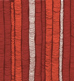 Rows of red hand drawn vertical folds Royalty Free Stock Photo