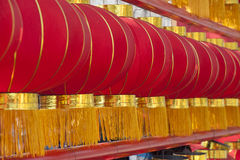 Rows of red lanterns Stock Photo