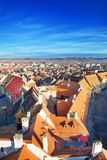 Rows of red roofs in beautiful Sibiu, Romania Royalty Free Stock Image