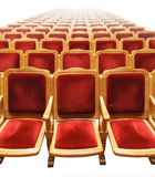 Rows of red seats Stock Photo