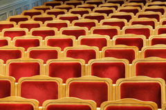 Rows of red seats Royalty Free Stock Photography