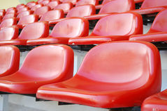 Rows of red seats stadium Royalty Free Stock Image