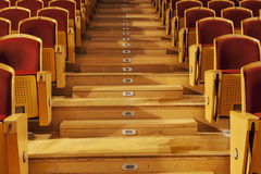 Rows of red theater seats Stock Image