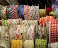 Rows of Ribbon Reels Stock Photos