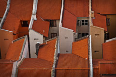 Rows of rooftops Royalty Free Stock Photo