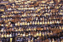 Rows of rooftops Stock Photo