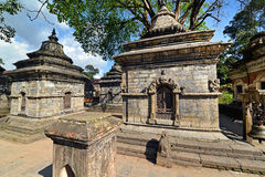 Rows of sacred Hindu temples in Pashupatinath, Nepal Stock Images