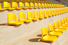 Rows Of Seat In A Stadium Royalty Free Stock Image