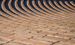 Rows of Seating in Ampitheater Stock Photo