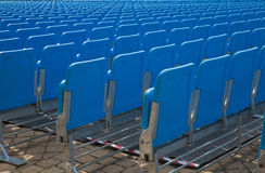Rows of seating in blue Royalty Free Stock Image