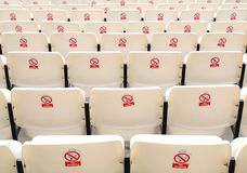 Rows of seats Stock Images