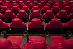 Rows of seats. In the cinema Stock Photo