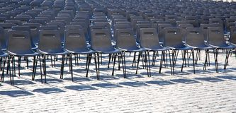 Rows of seats Royalty Free Stock Photos
