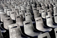 Rows of seats. For public manifestation Stock Photos