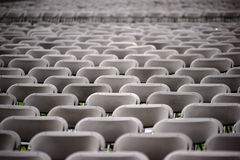 Rows of Seats at Concert Stock Photo