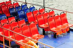 Rows Of Seats On A Ferry Royalty Free Stock Photo