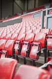 Rows of seats in football sports stadium Royalty Free Stock Images