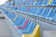Rows of seats in main grandstand of BIC Royalty Free Stock Photo